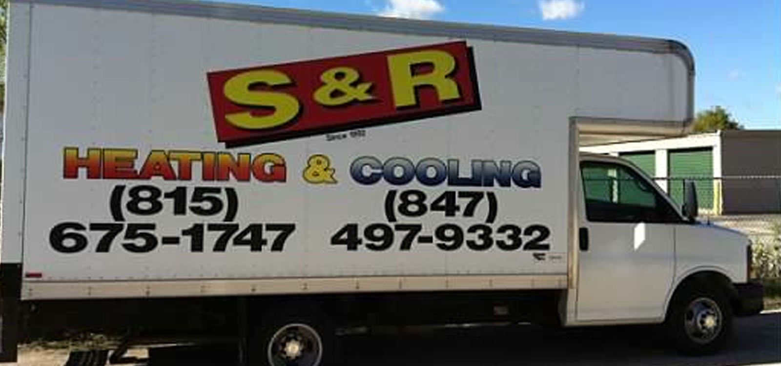 S & R Heating & Cooling truck